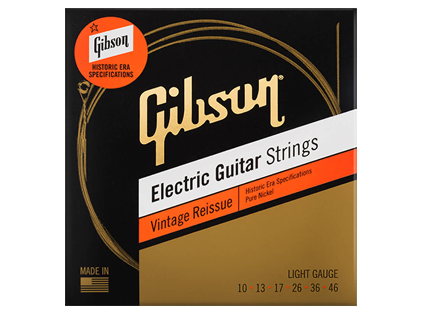 Gibson Vintage Reissue electric guitar strings light gauge