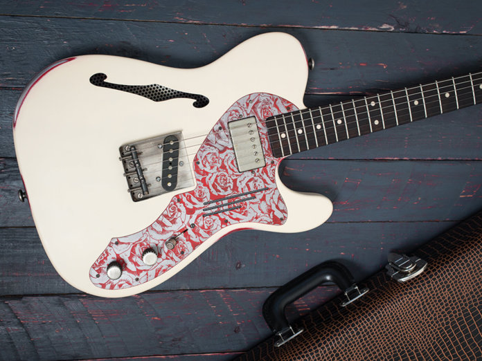 James Trussart Deluxe Steelcaster angled shot