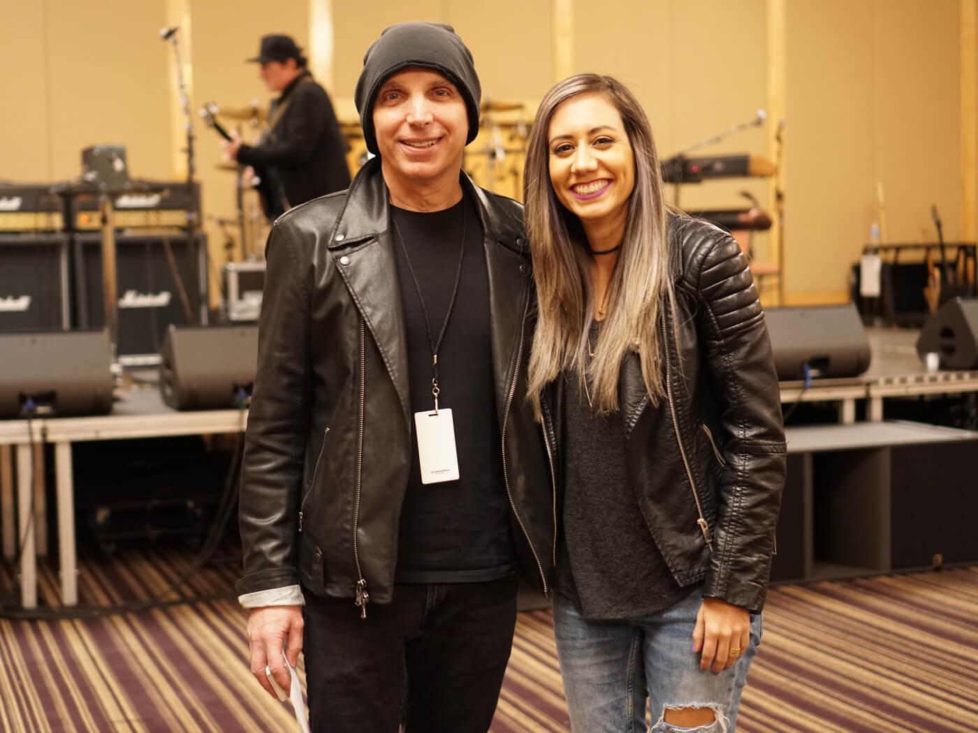 Joe Satriani and Lari Basilio