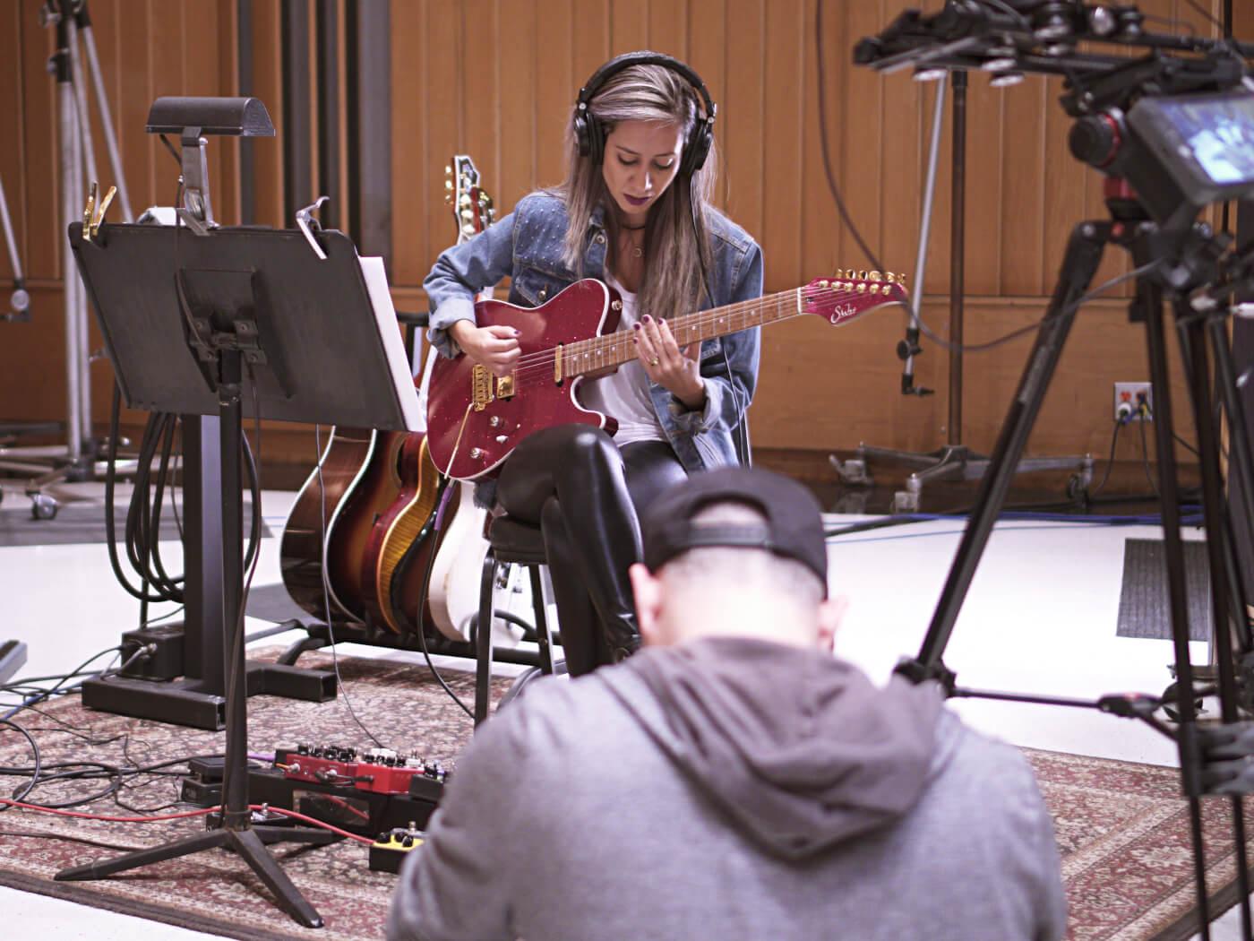 Lari Basilio at Capitol Studios