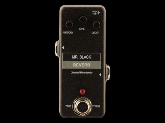 Mr Black Mini Reverb black background