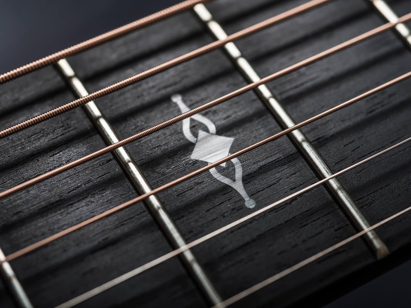 Taylor 322ce fingerboard close up