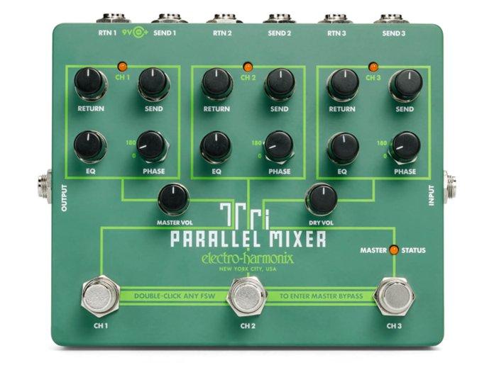 EHX Tri Parallel Mixer white background