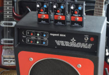 Fredric Effects Regent 150 Preamp on top of Veromna amp