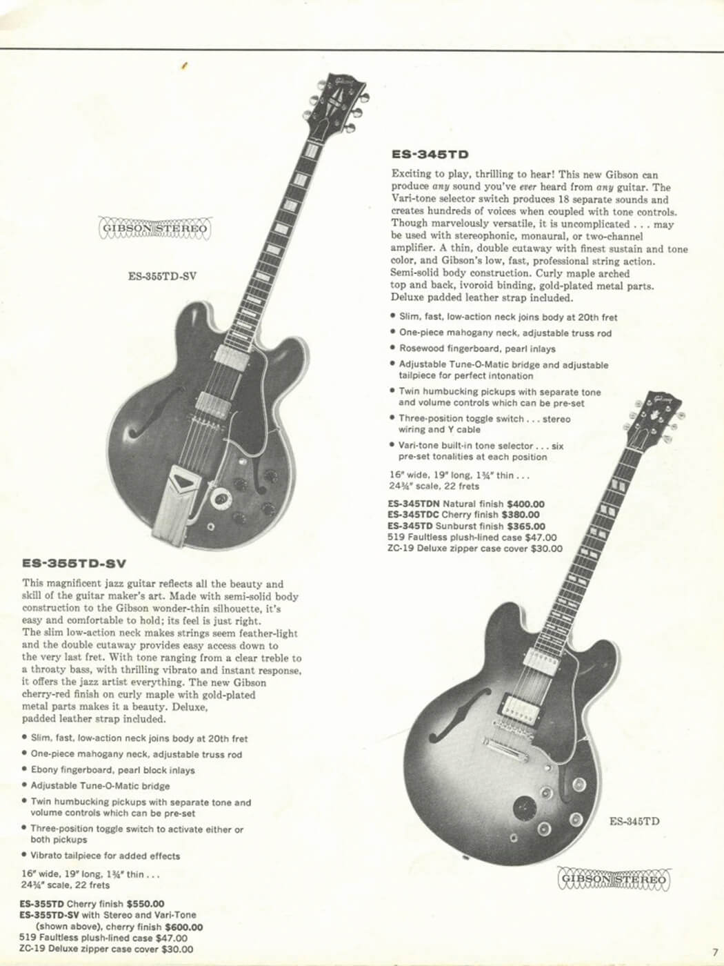 Gibson ES vintage catalogue 2