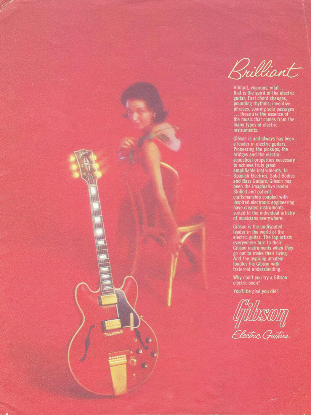 Gibson ES vintage catalogue cover