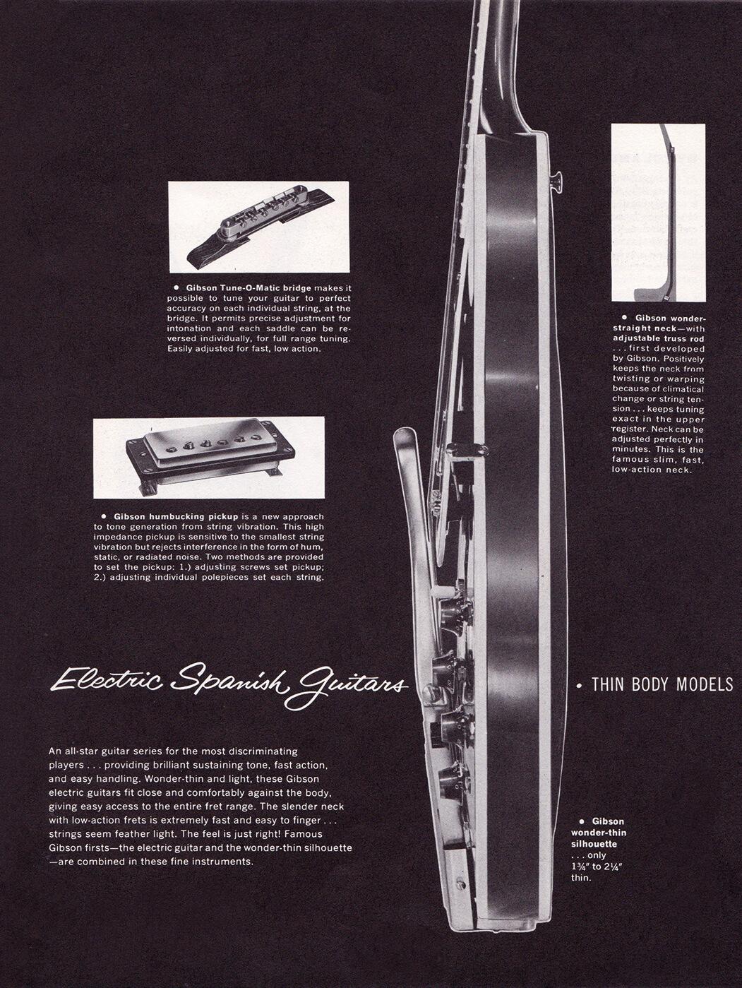 Gibson ES vintage catalogue spanish guitars