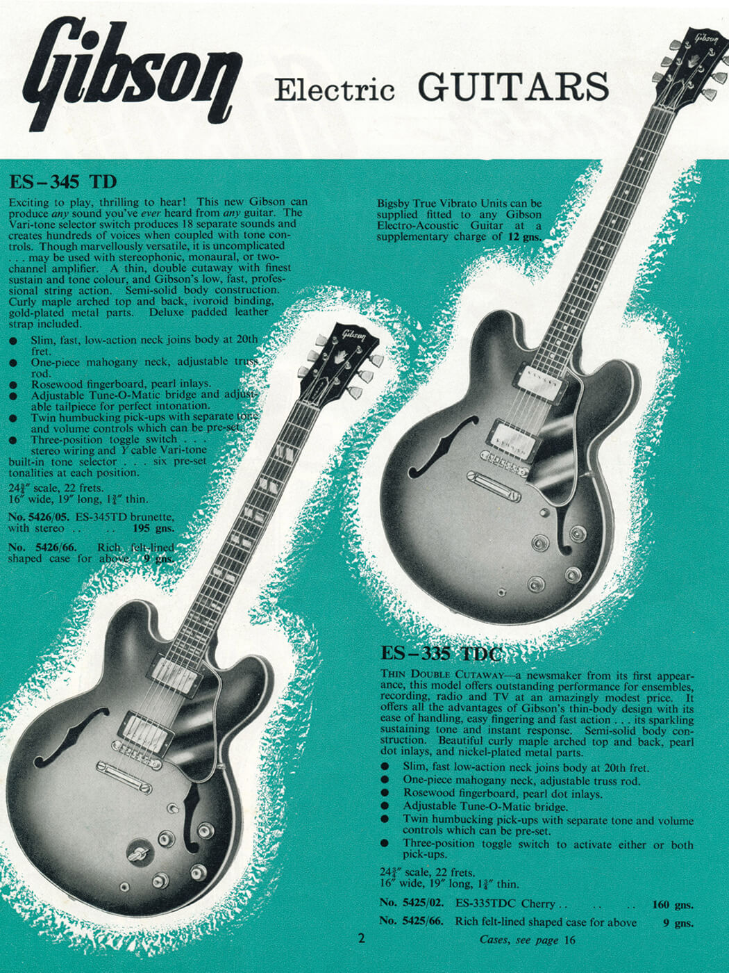 Gibson ES vintage catalogue thinline