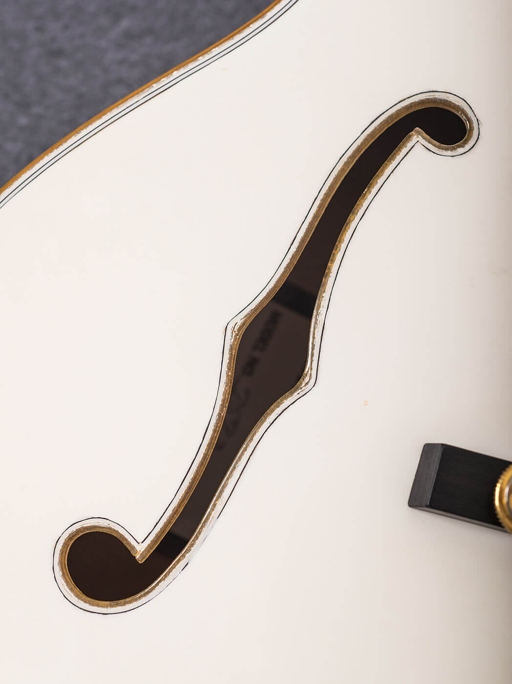 f-hole on white falcon gretsch