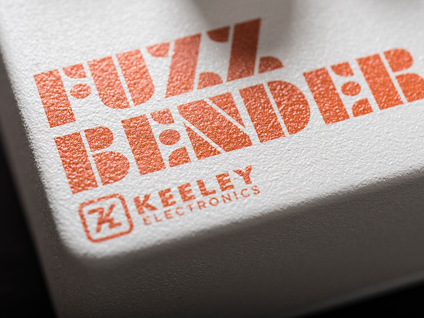 Keeley Fuzz Bender logo on pedal