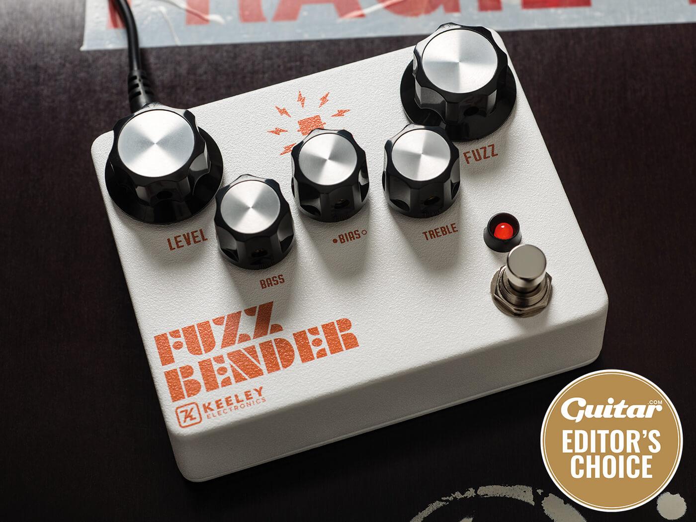 Keeley Fuzz Bender shot on black surface