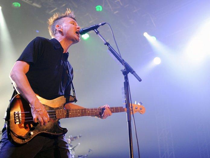 Mark Hoppus of Blink-182 on stage
