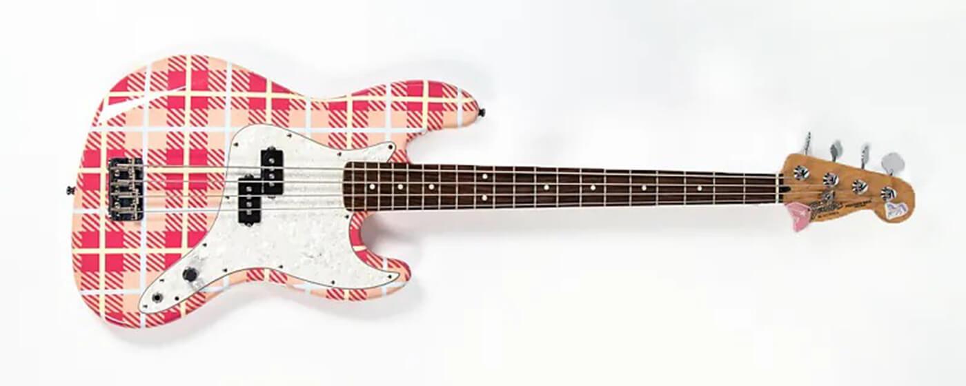Mark Hoppus Fender P-Bass plaid landscape