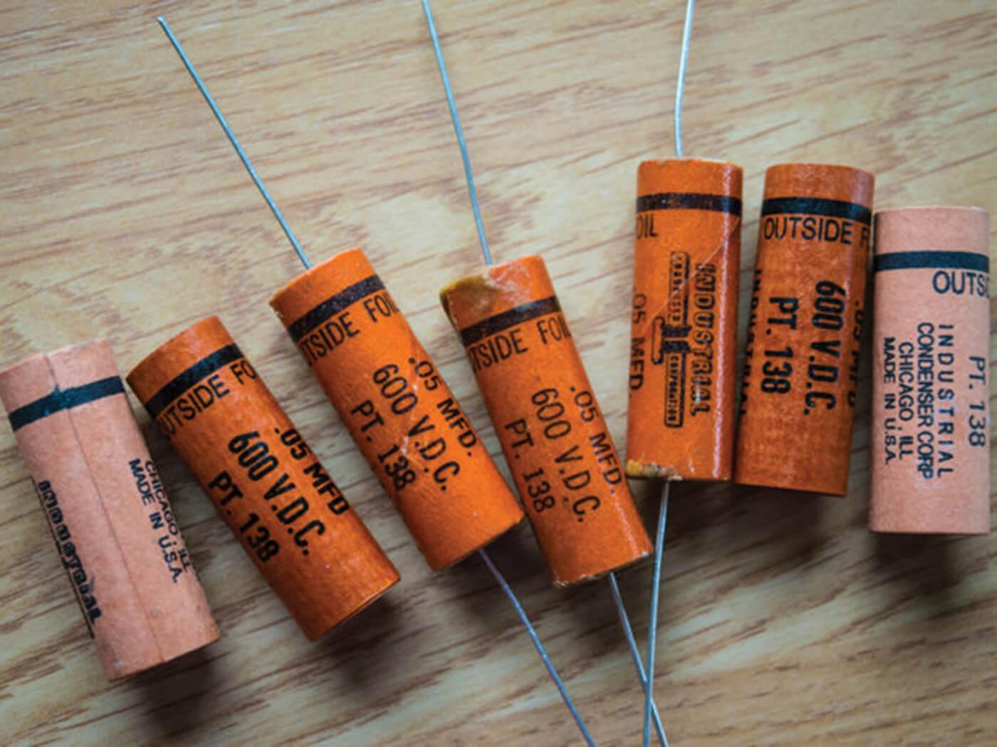 Pre-waxed capacitors