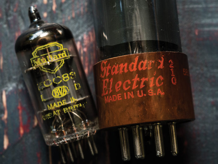 Vacuum tubes side by side