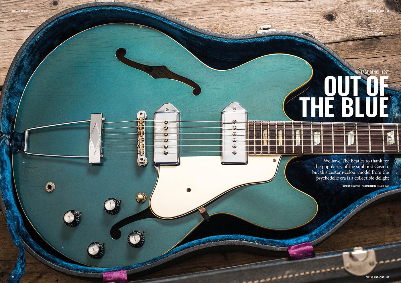 vintage epiphone casino pelham blue guitar magazine