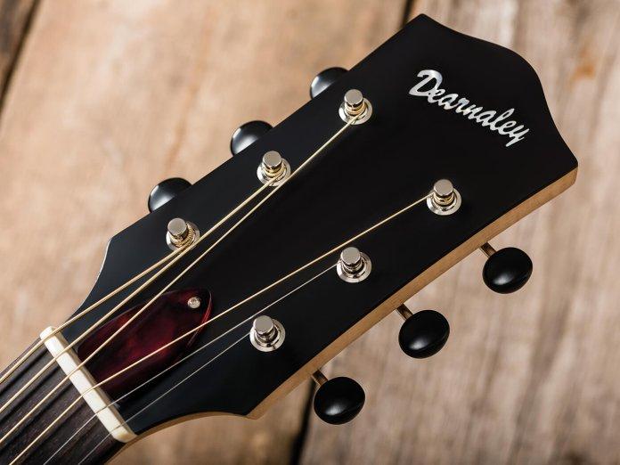 Dearnaley Guitars acoustic headstock