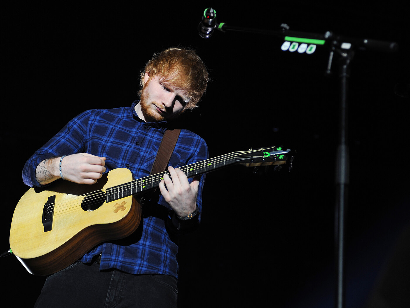 ed sheeran plots live shows without his trusty looper. Black Bedroom Furniture Sets. Home Design Ideas