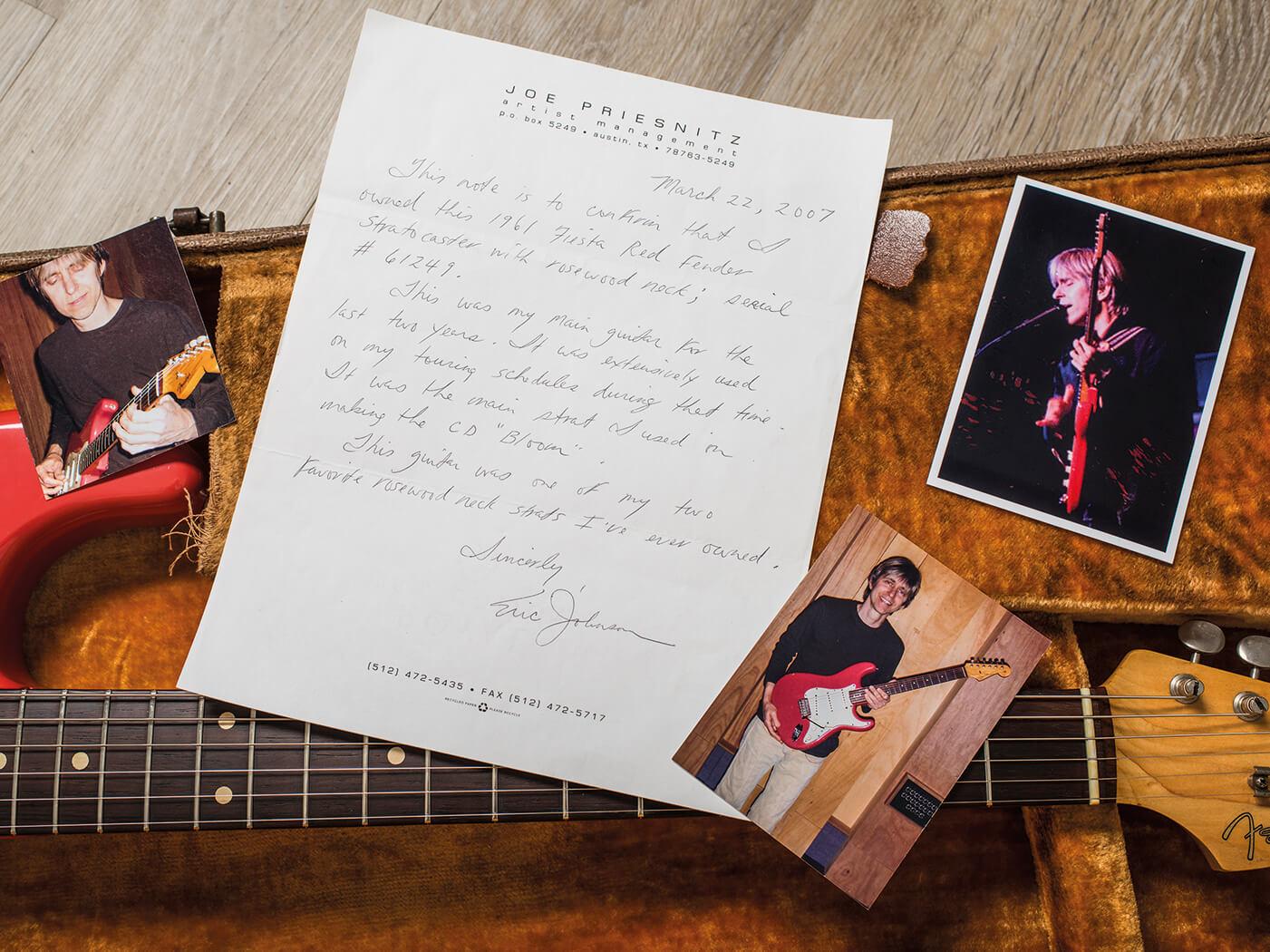 Fender Pre-CBS Fiesta Red Strat Eric Johnson memorabilia