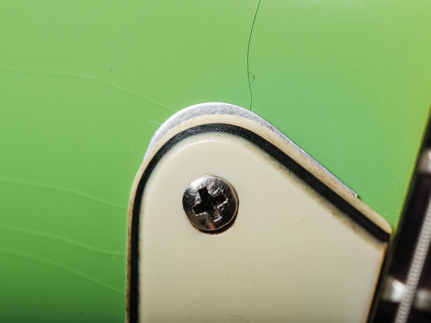 Fender Pre-CBS Surf Green Strat lacquer cracks