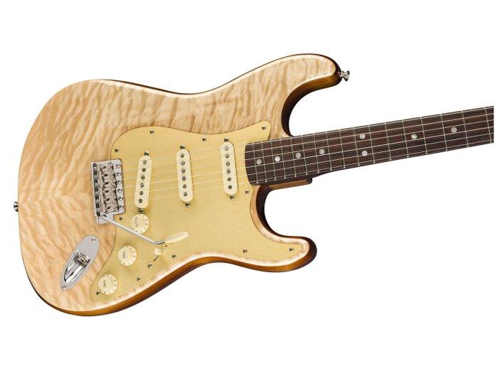 Fender Rarities Quilt Maple Top Strat angled shot