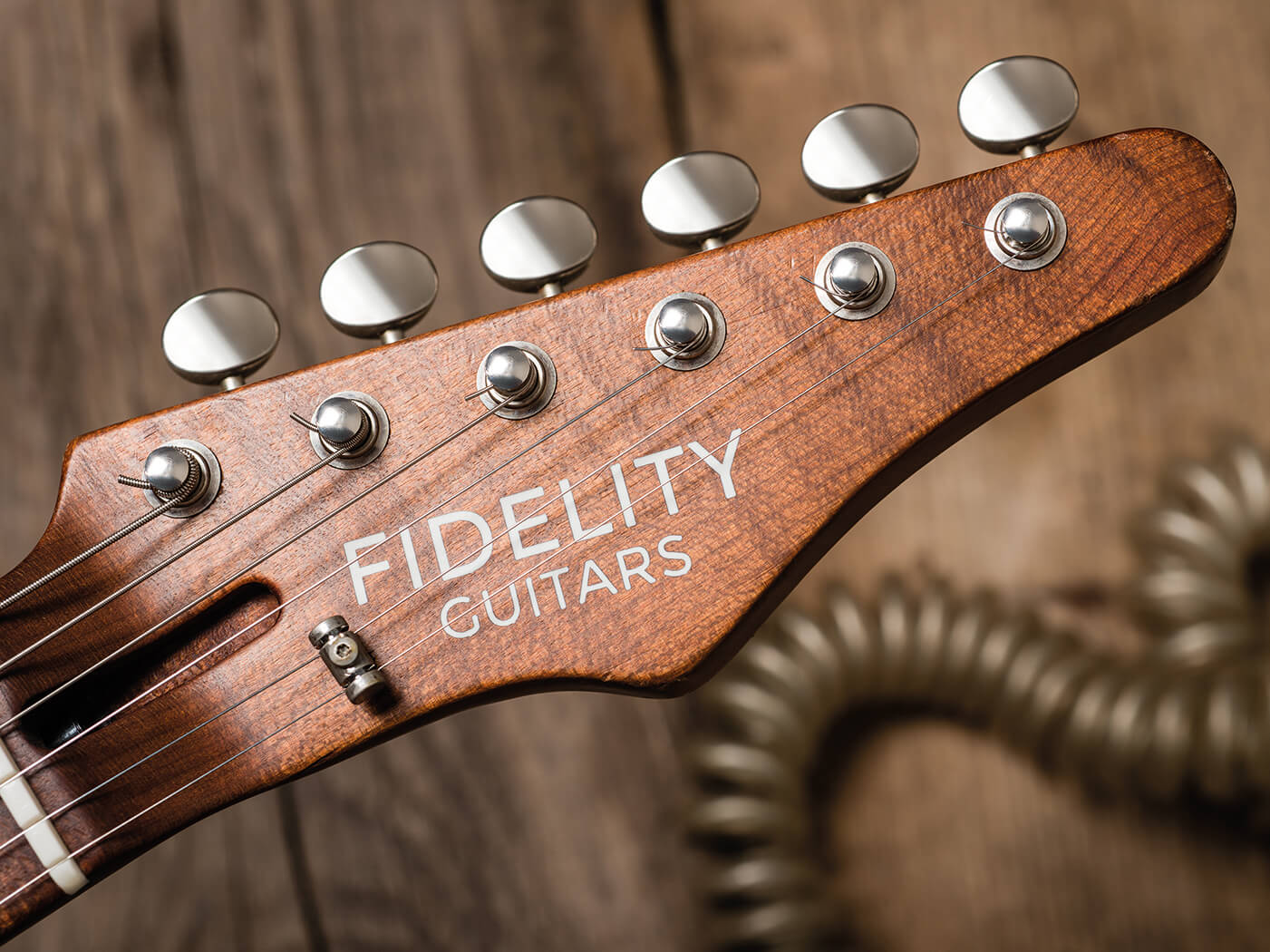 Fidelity Guitars Stellarosa headstock