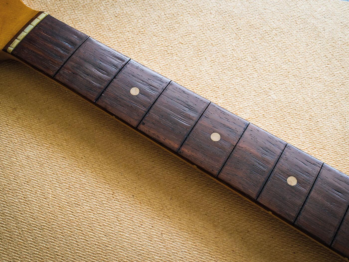 Fretless strat fingerboard