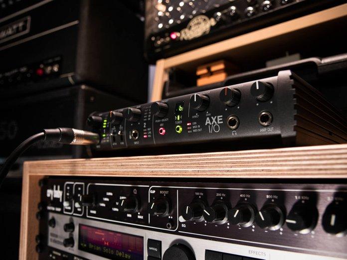 IK Multimedia AXE I/O studio angled shot