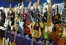 Leeds Bradford Guitar Show 2019 guitar display