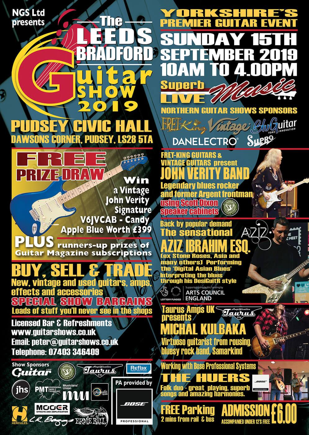 Leeds Bradford Guitar Show 2019 poster
