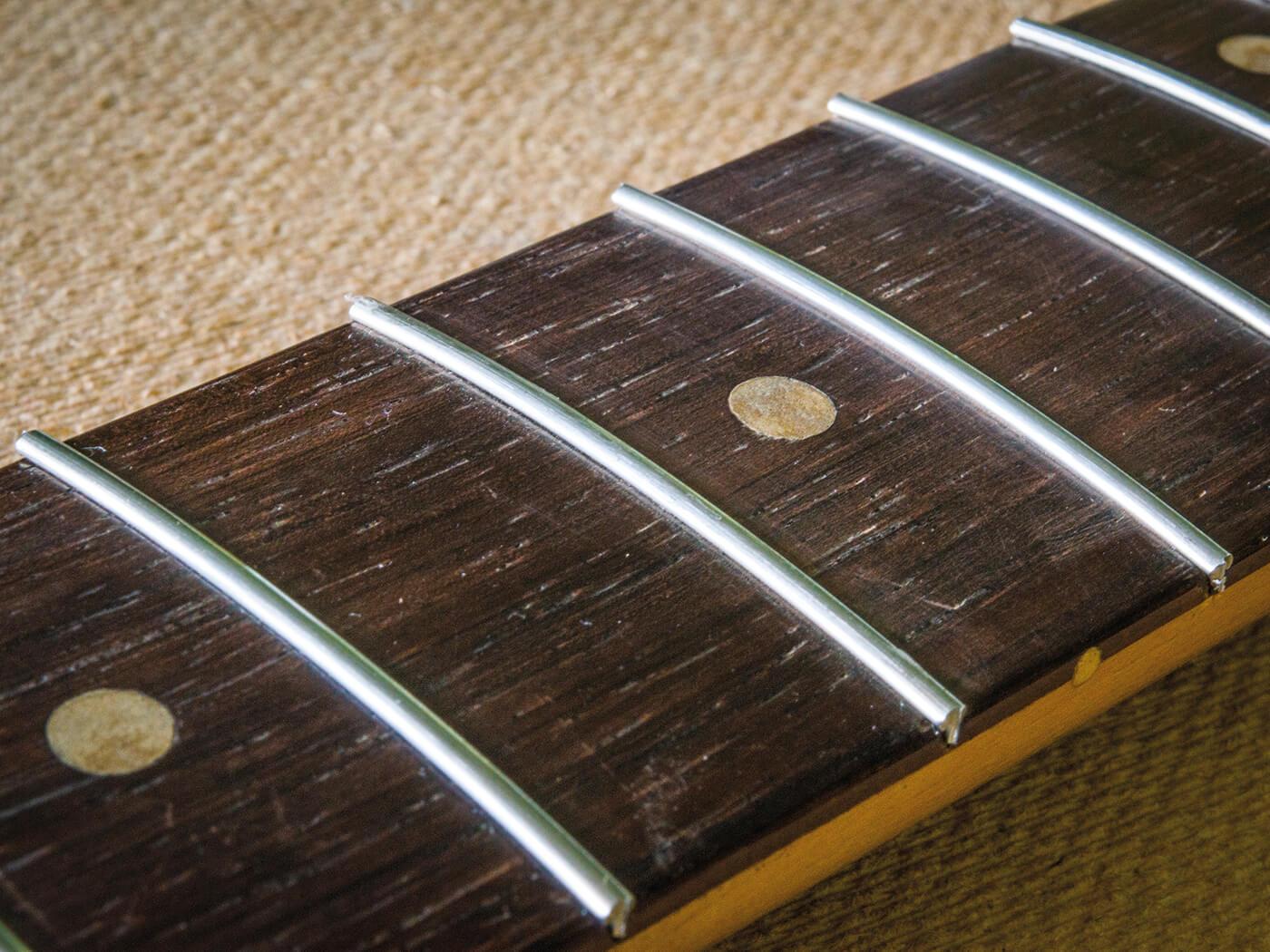 New frets on strat fingerboard
