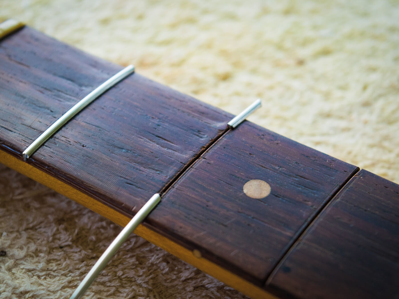 Positioning new frets on strat fingerboard
