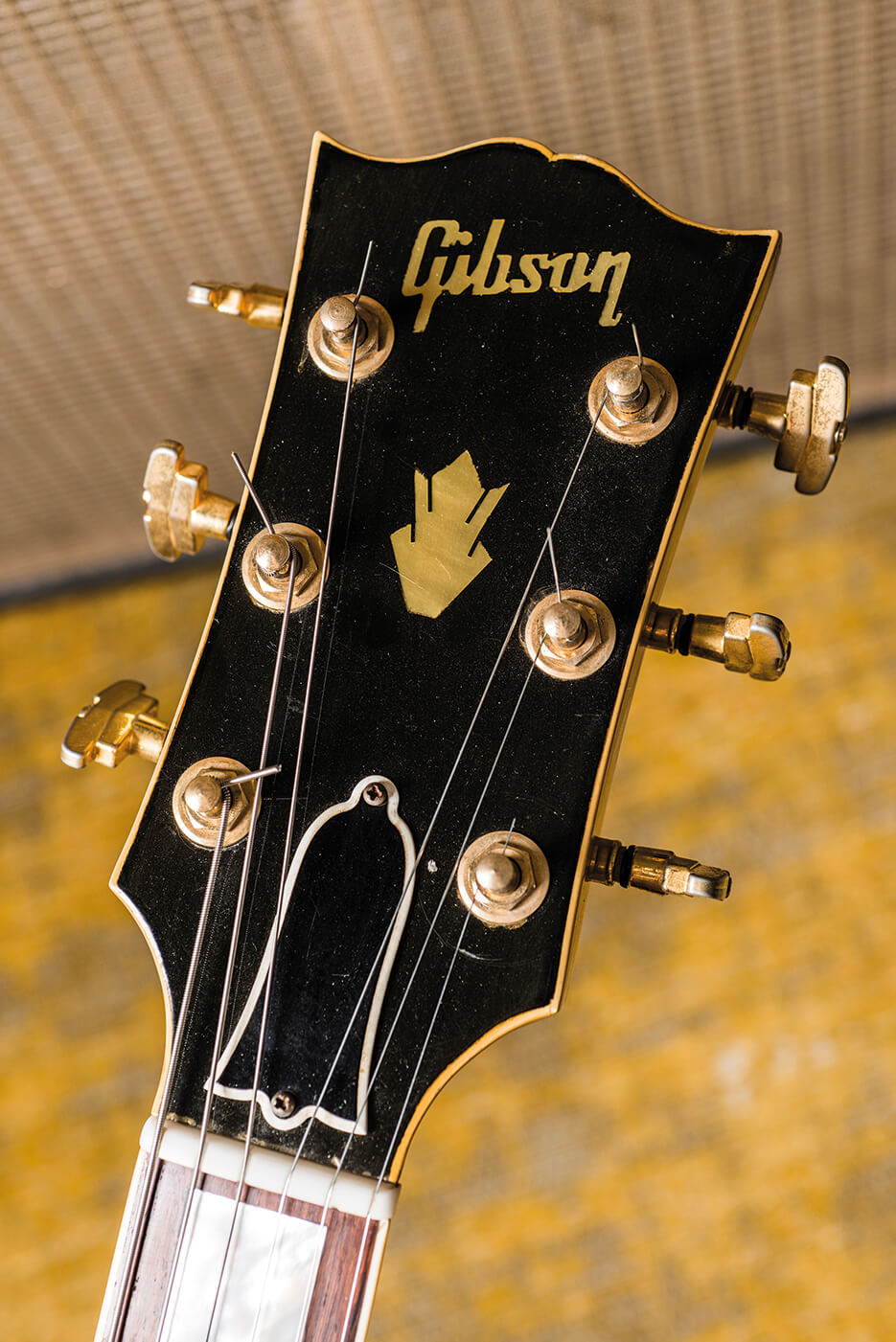 T-Bone Walker Gibson 1949 ES-5 headstock
