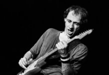Young Mark Knopfler black and white