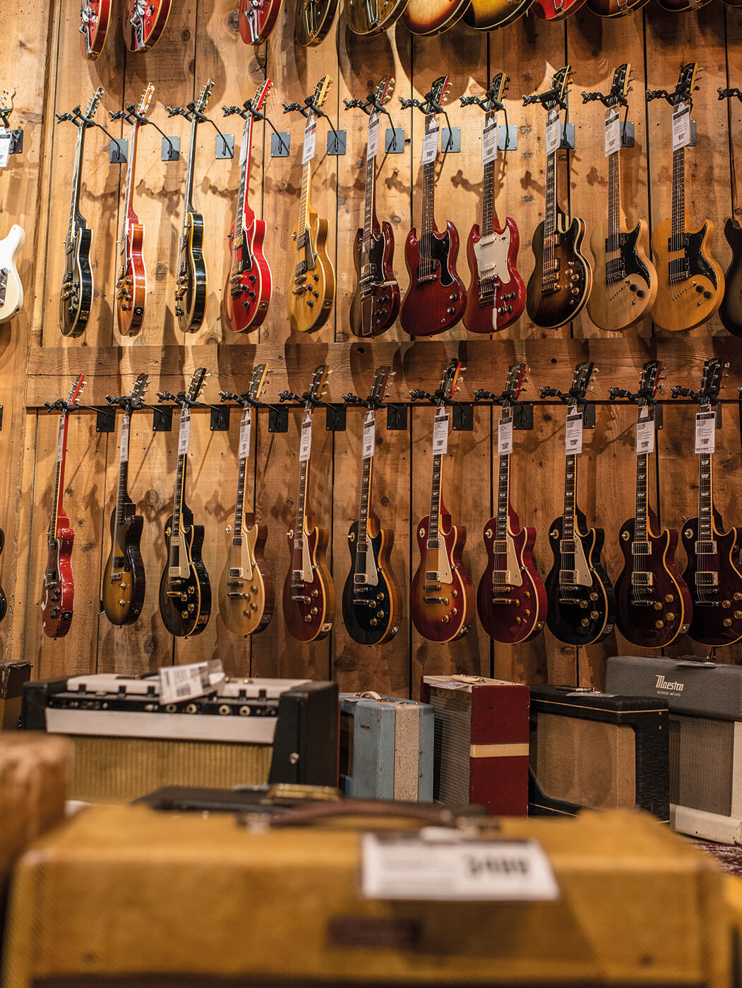 Guitar Center wall