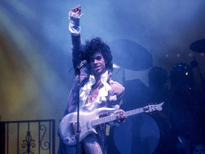 Prince with Cloud Guitar Getty Images