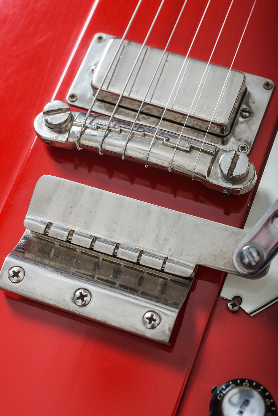 Gibson 1964 Firebird III red bridge humbucker and bridge