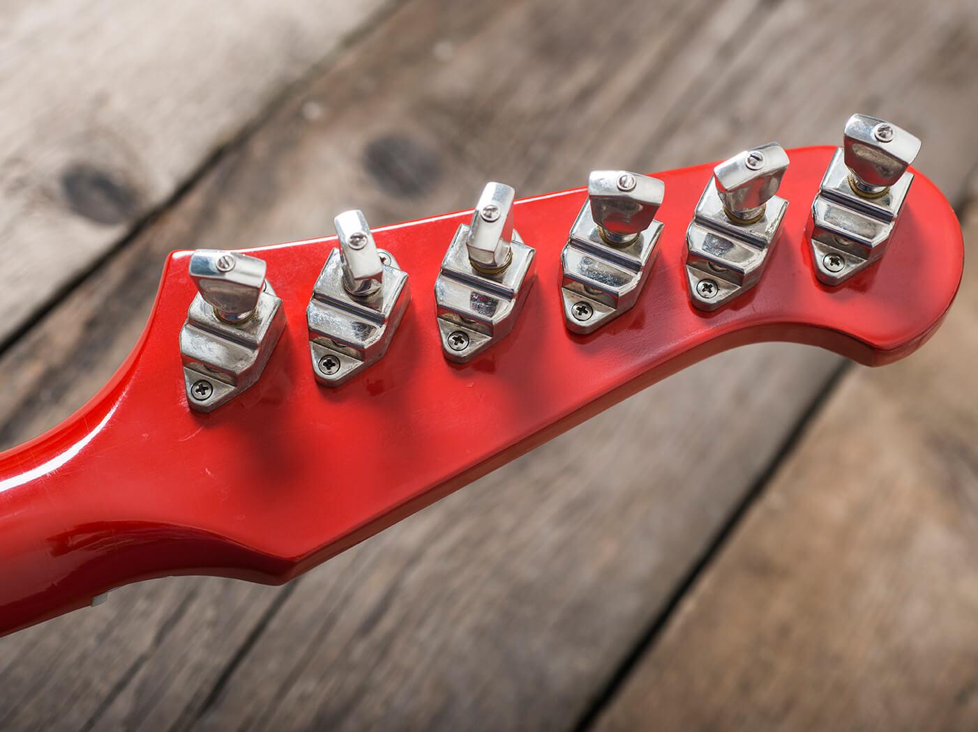Gibson 1964 Firebird III red machine heads