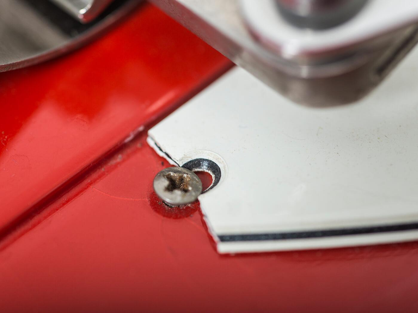 Gibson 1964 Firebird III red pickguard screw