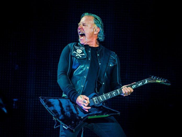 Metallica James Hetfield with ESP guitar shutterstock