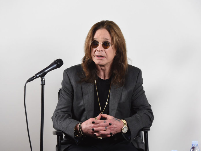 Ozzy Osbourne at a February 2018 press conference in his Los Angeles home