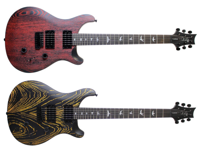 Two of the PRS SE Ltd Sandblasted Swamp Ash