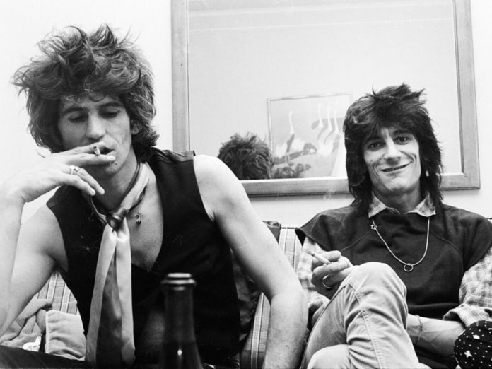 Ronnie Wood and Mick Jagger getty