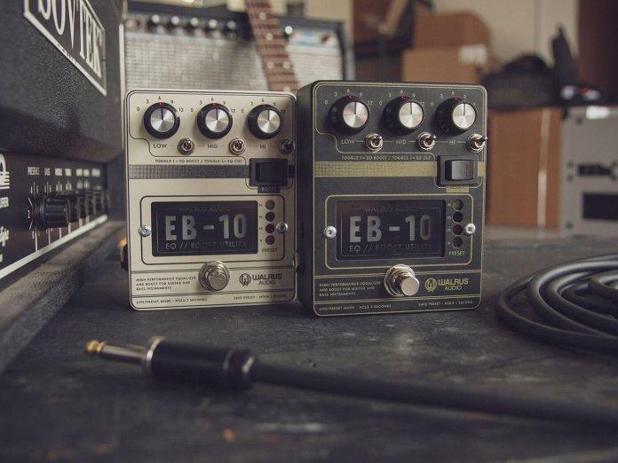 The Walrus Audio EB-10, both finishes