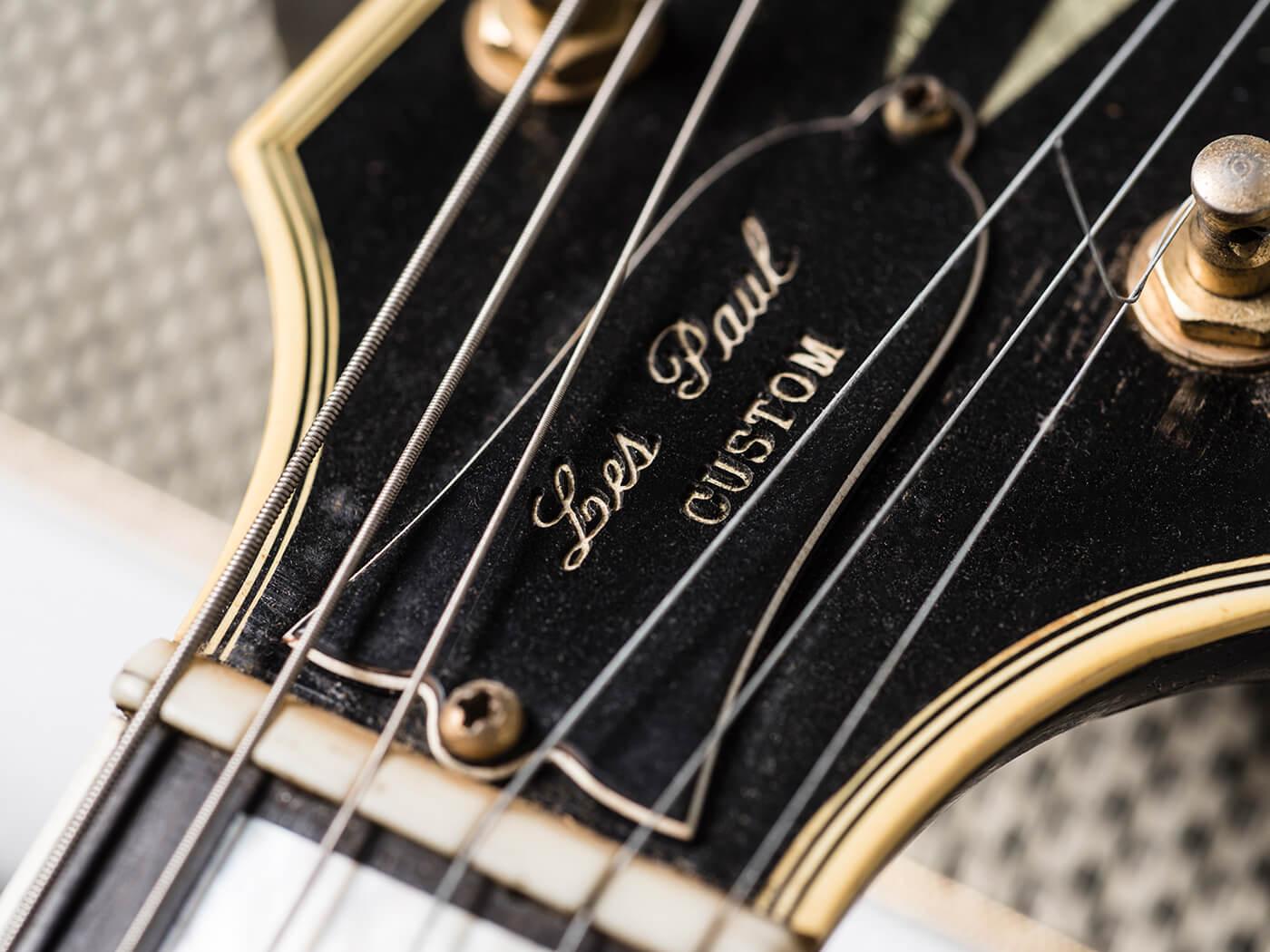 Gary Gand Red 1959 Les Paul Custom (Headstock)