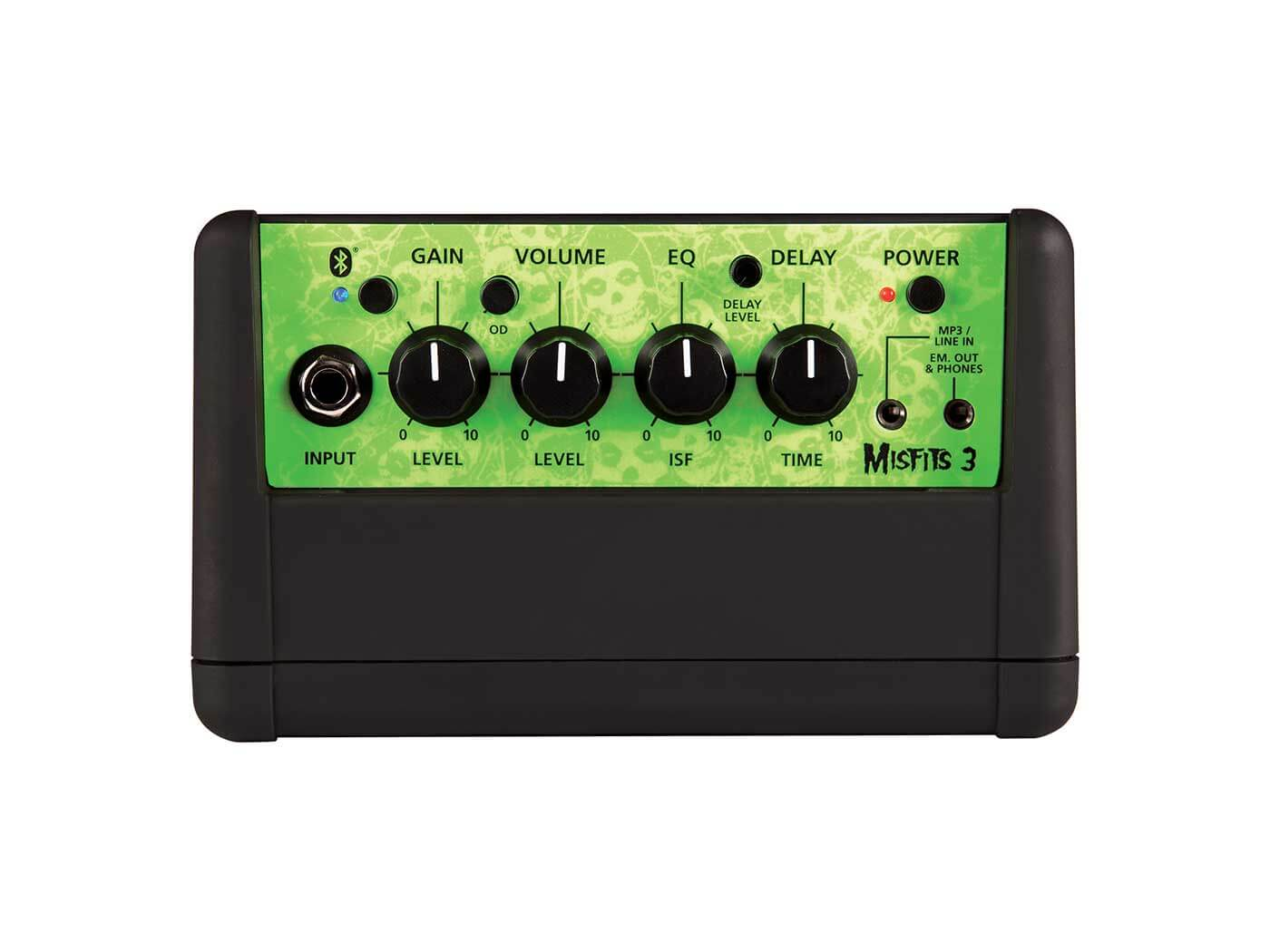 The control panel of the Misfits 3 Bluetooth.