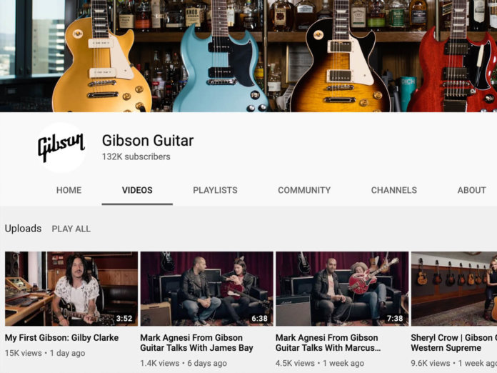 Gibson's youtube channel.