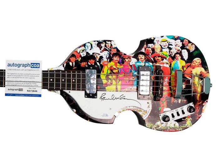 The Paul McCartney-signed hoofer violin bass