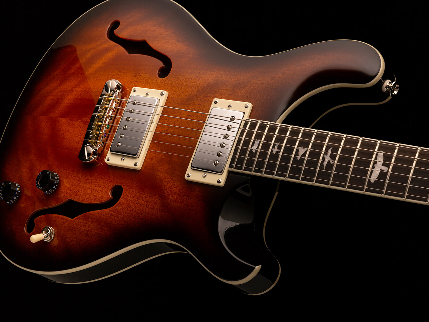 The PRS SE Hollowbody Standard, in Tobacco Burst