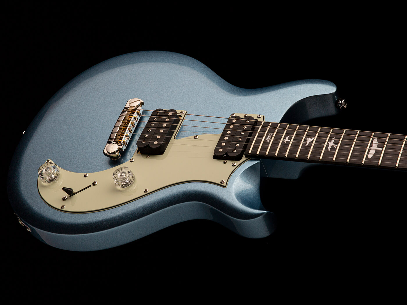The PRS SE Mira in Frost Blue Metallic.